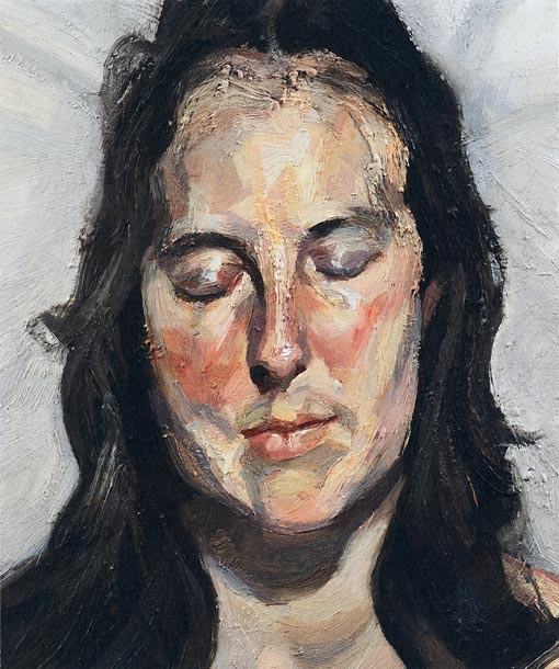 Lucian Freud, Woman with Eyes Closed (2002)