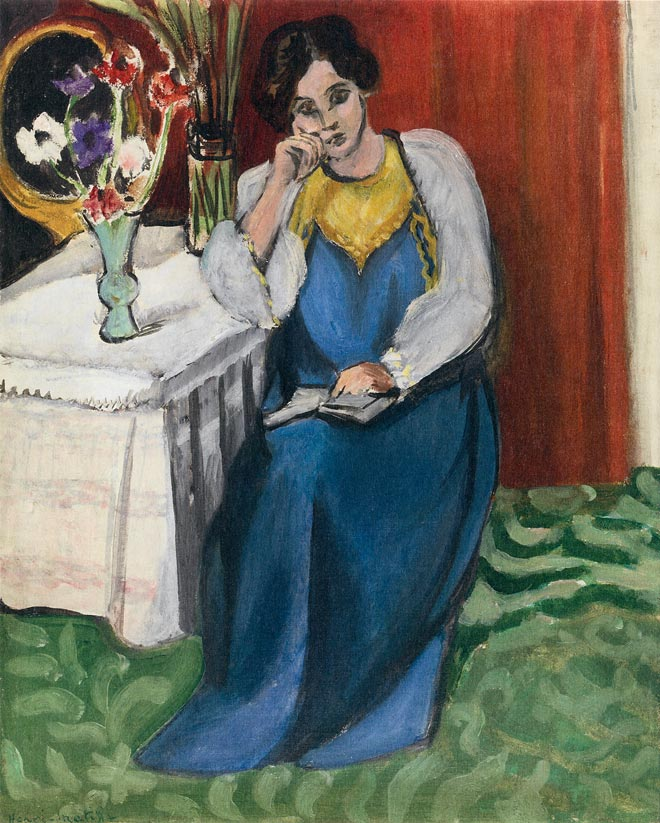 Matisse, Reading Woman in White and Yellow (1919)