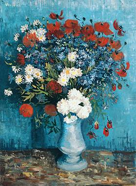 Still Life with Cornflowers and Carnations